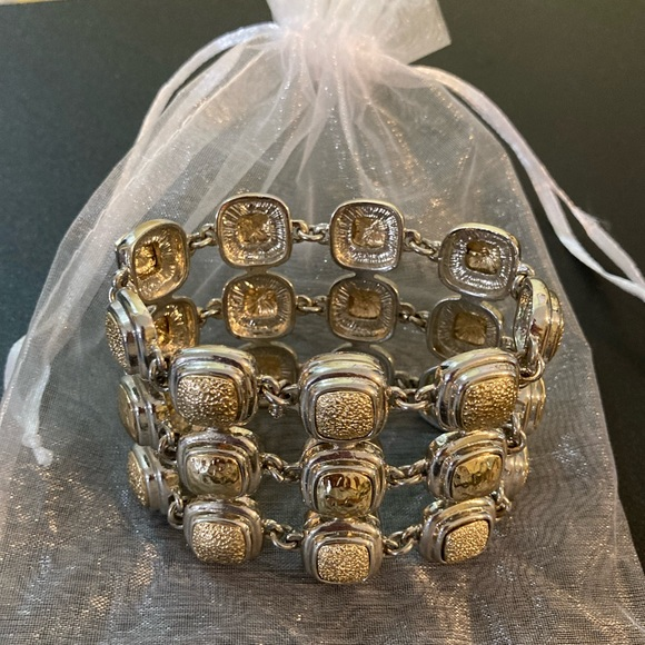 Monet silver and gold tone bracelet